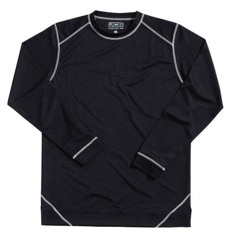 JCB Base Layer Black Long Sleeve