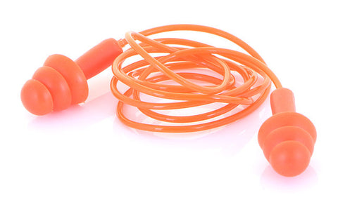 B-BRAND CORDED MOULDED EAR PLUGS ORANGE  Pack of 200