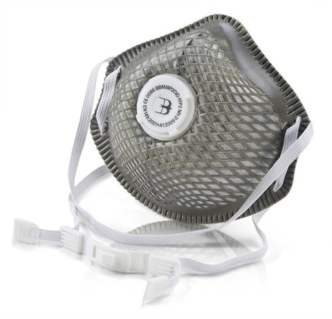 CHARCOAL P2 VENTED MESH CUP MASK   Pack of 10