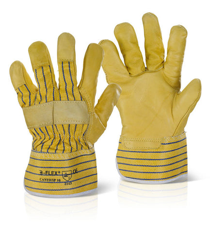 CANADIAN YELLOW HIDE RIGGER GLOVE   Pack of 10