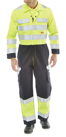 ARC FLASH COVERALL TWO TONE SATURN YELLOW / NAVY