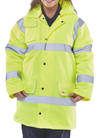 FLEECE LINED TRAFFIC JACKET SATURN YELLOW