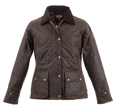JCB LADIES CHELTENHAM JACKET BROWN