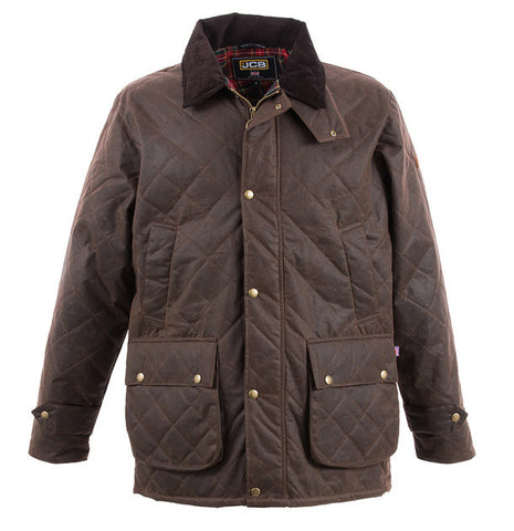 JCB CHELTENHAM QUILTED WAX JACKET BROWN