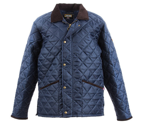 JCB NEWBURY POLYESTER QUILTED JACKET NAVY