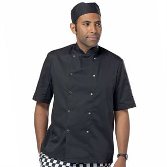 Chef's jacket short sleeve press stud DC08CS