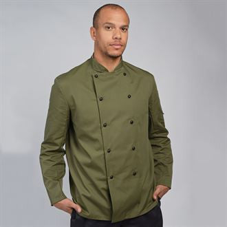 Dennys Chef's jacket stud button, technicolour long sleeve (DD56)