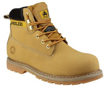 Amblers Tan Safety Boots FS7