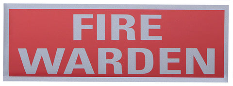 FIRE WARDEN REFLECTIVE BACK
