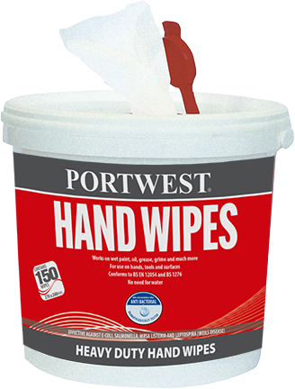 Portwest IW10 Hand Wipes (Pk150)