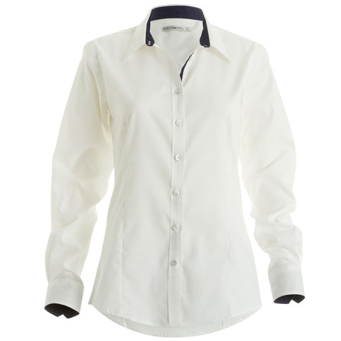 KK790 Women's Contrast Premium Oxford Shirt