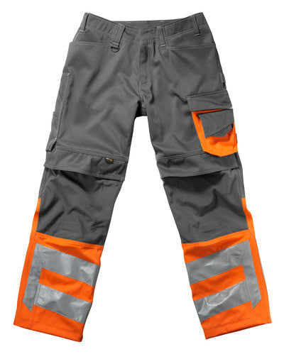 MASCOT® Leeds Trousers Hi Vis With Anthracite