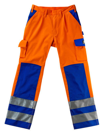 MASCOT® Olinda Trousers Orange /Royal & Anthracite