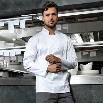 Premier PR657 Long sleeved chef's jacket