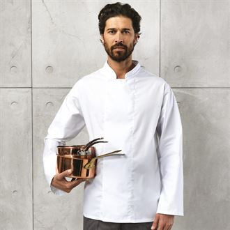 Premier PR659 Coolmax® long sleeve chef's jacket