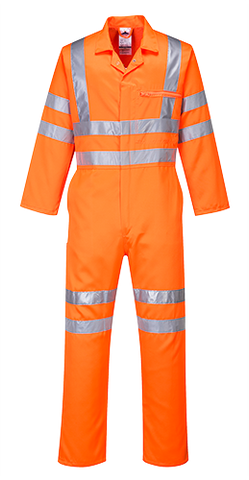 Portwest RT42 Hi-Vis Polycotton Coverall RIS