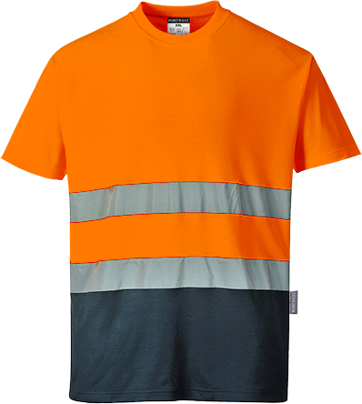 Portwest S173 2-Tone Cotton Comfort T-Shirt