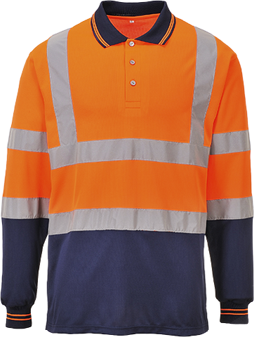 Portwest S279 Two-Tone Long Sleeved Polo