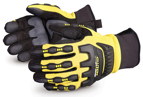 CLUTCH GEAR® IMPACT PROTECTION MECHANICS GLOVE YELLOW