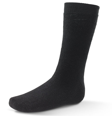 THERMAL TERRY SOCKS BLACK  Pack of 3