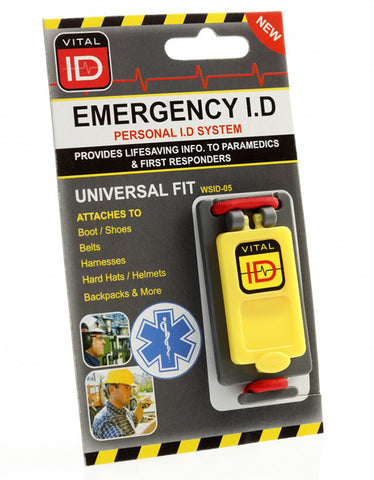EMERGENCY ID UNIVERSAL FIT TAG