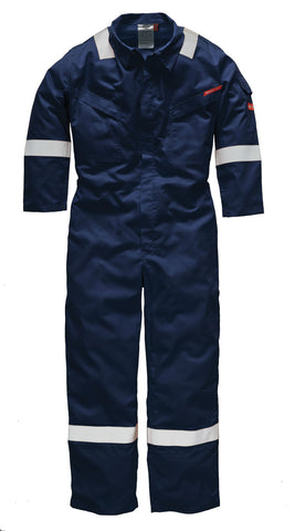 Dickies Lightweight Pyrovatex® Coverall Navy Orange