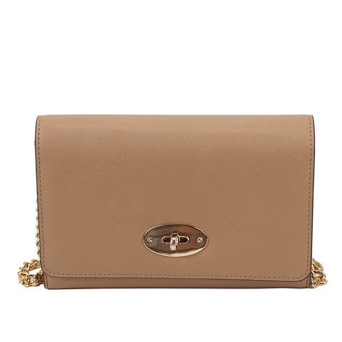 Chain Crossbody - Tan
