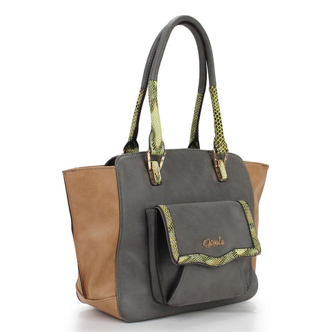 Thea Pocket Tote - Grey