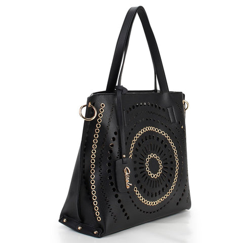 Waverly Laser Cut Tote - Black
