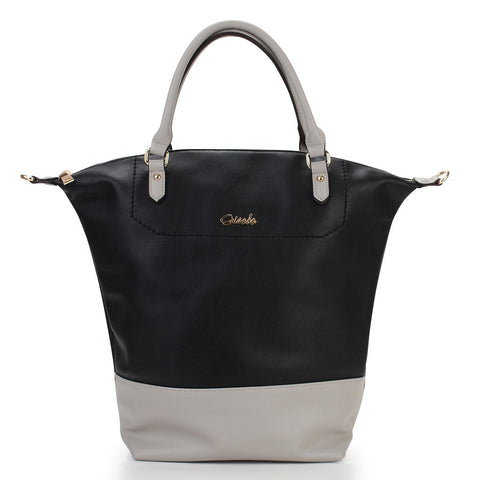 Emily Two-Tone Shopper - Black