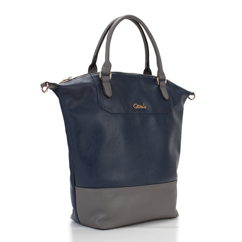 Emily Two-Tone Shopper - Navy