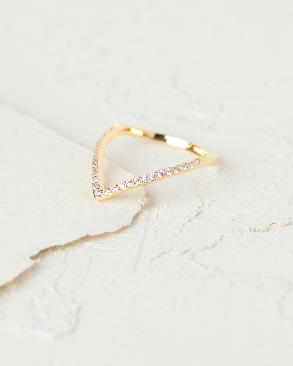 Alma Chevron Gold Ring