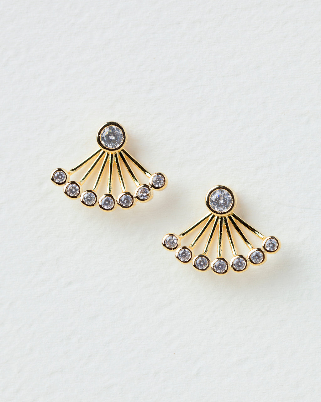 Issoria Round Ear Jacket Earrings