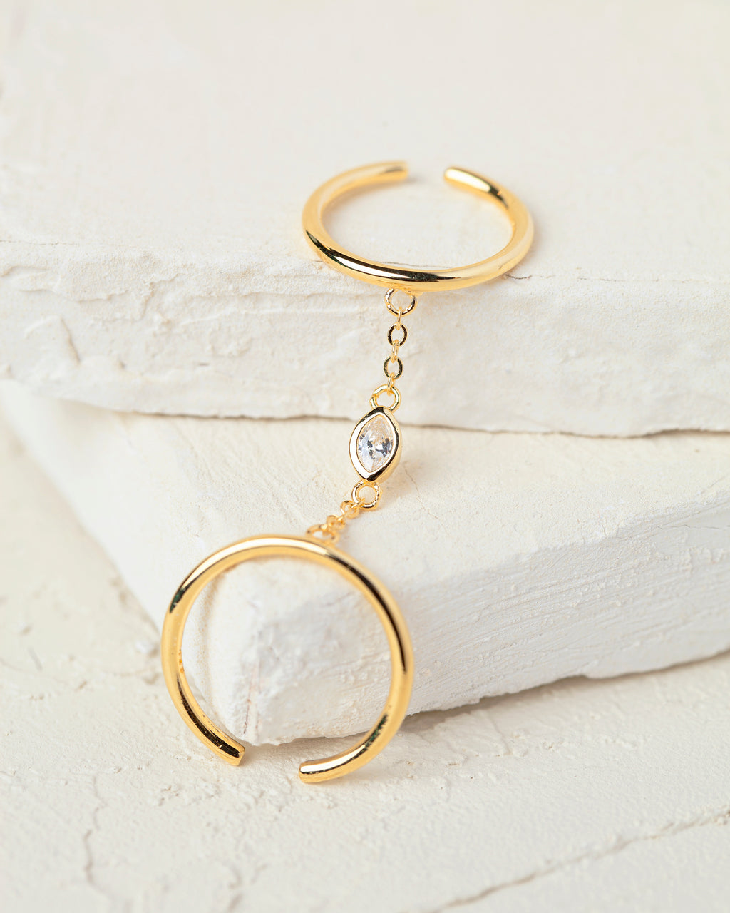 Adina Gold Chain Ring
