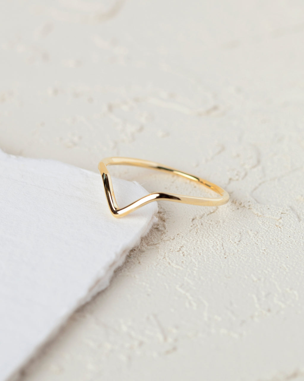 Adina Chevron Gold Ring