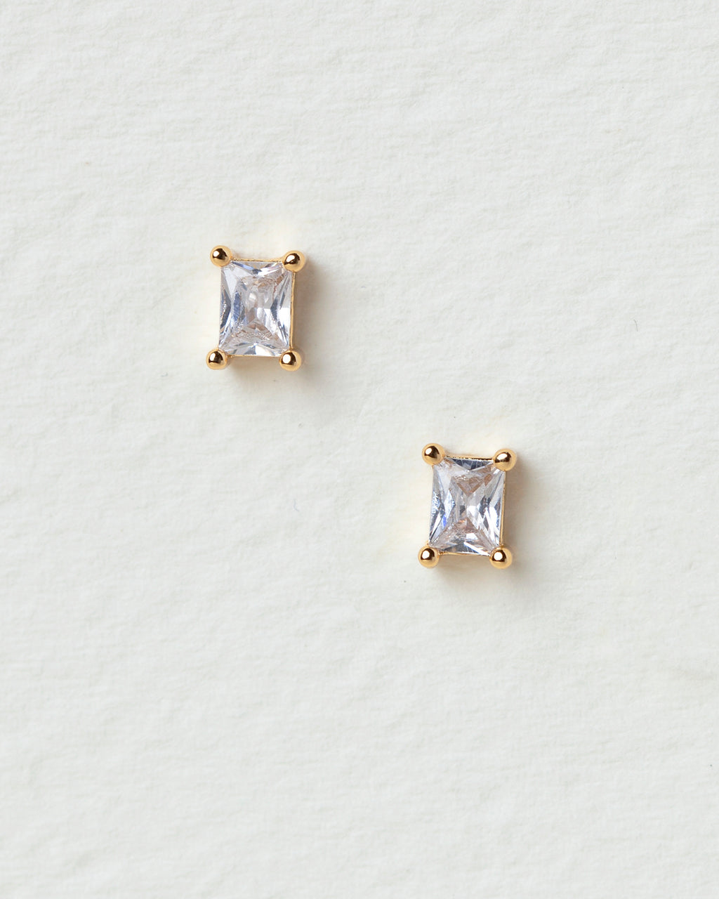 Amalia Emerald Cut Stud Earrings