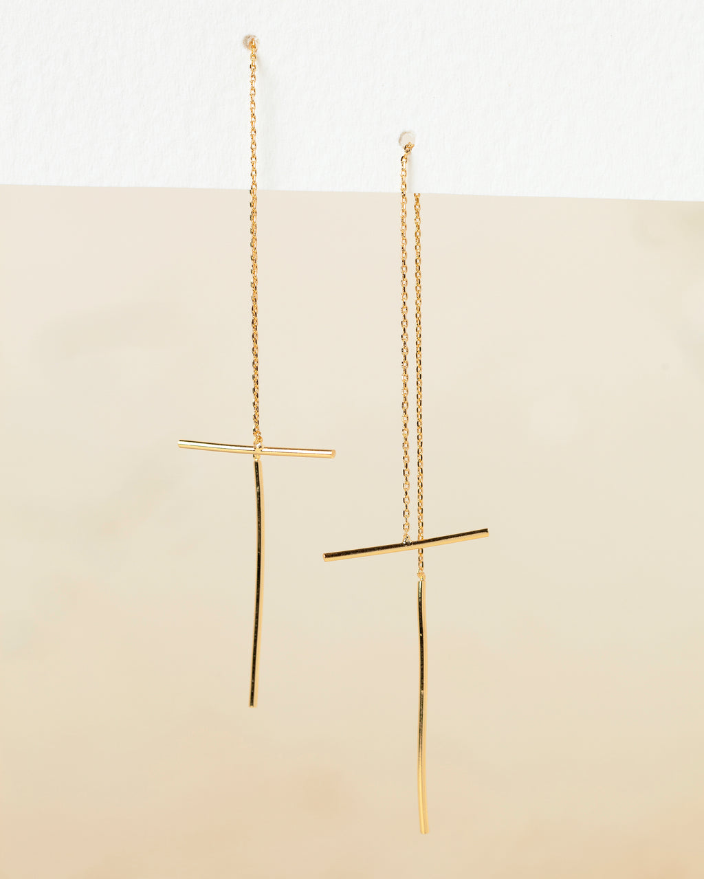 Grazia Bar Threader Earrings