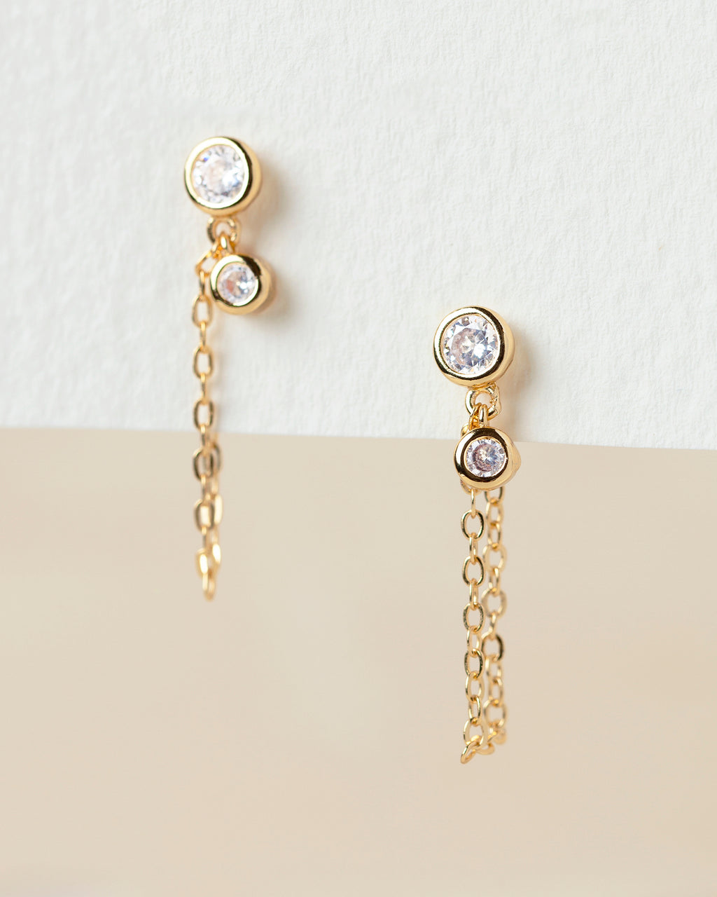 Jemma  Chain Stud Earrings