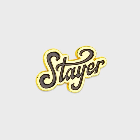 Stayer Emblem Gold Pin