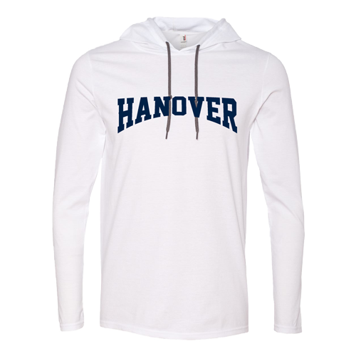 T-Shirt - Lightweight Hooded - Long-Sleeve - White