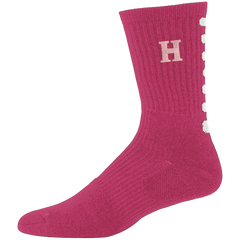 Crew Length Socks - Breast Cancer Awareness