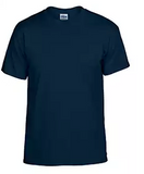 T-Shirt Men's & Youth Short-Sleeve Cotton NAVY - HMS