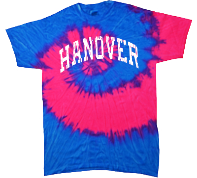 Pink/Blue Tie-Dyed T-Shirt