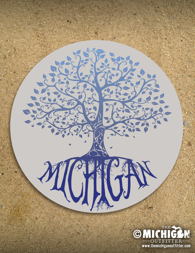 "4"" Michigan Sticker - Old Glory"