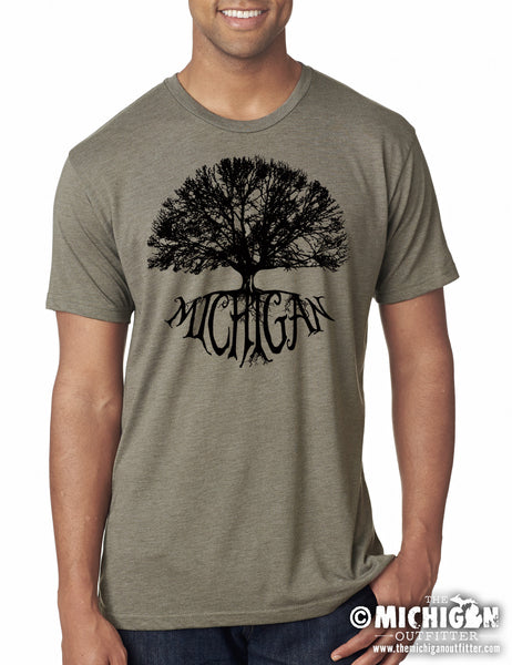 Big Tree - Mens T-Shirt - Venetian Gray