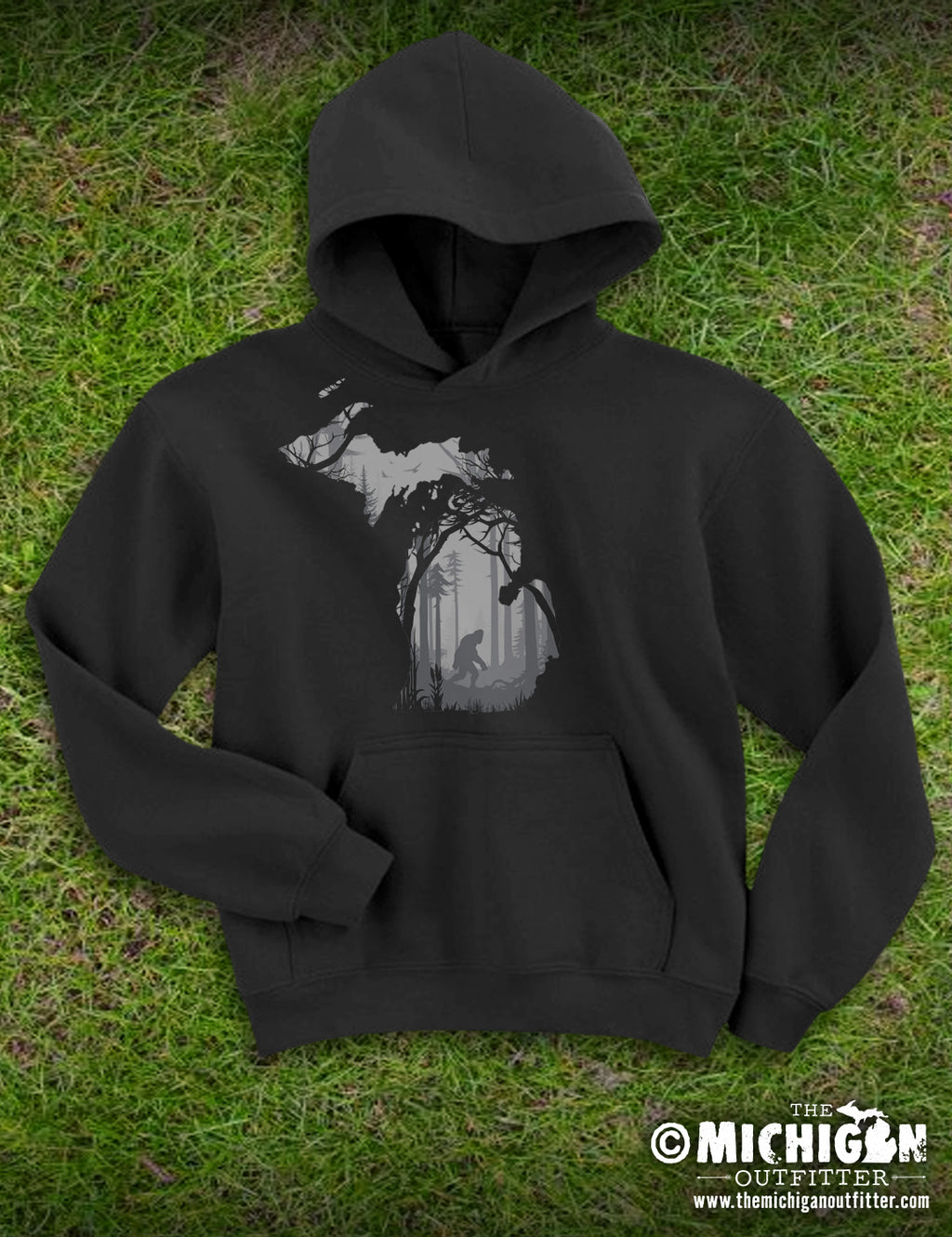 Bigfoot Forest - Youth Hoodie - Black