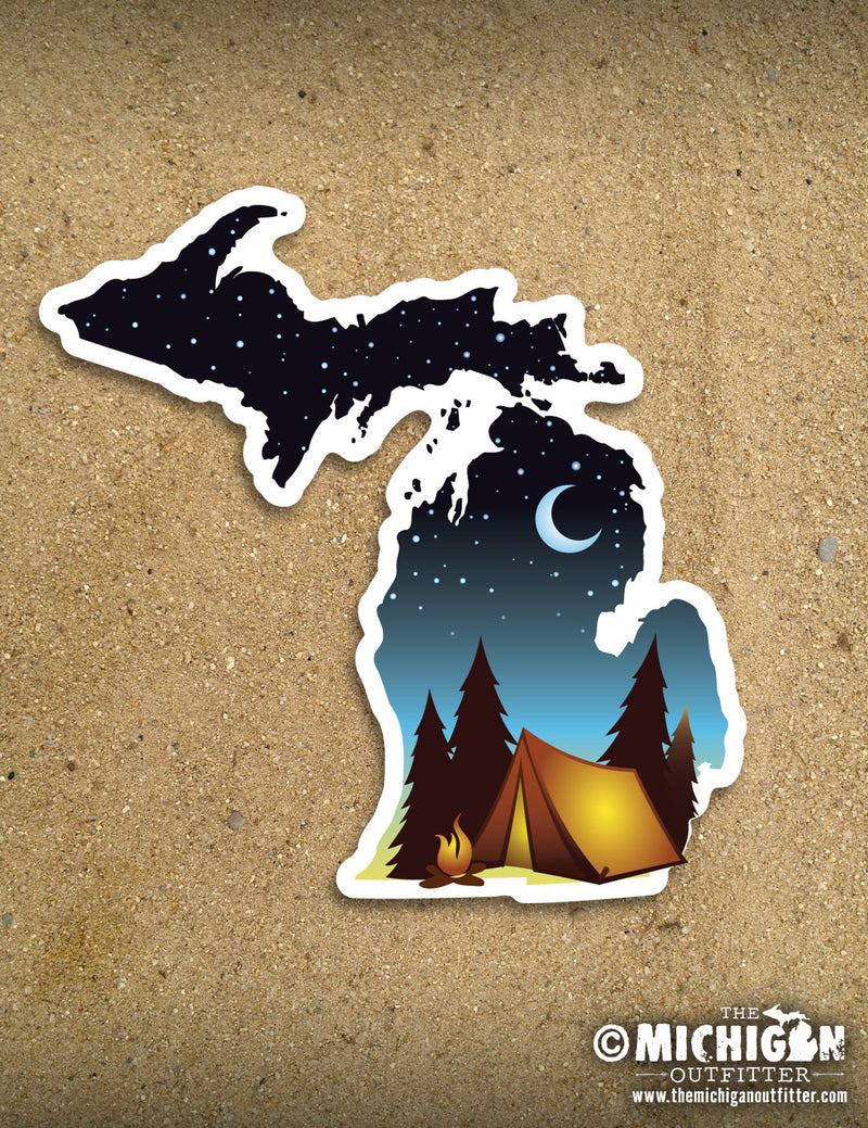 "4"" Michigan Sticker - Pink Camo"