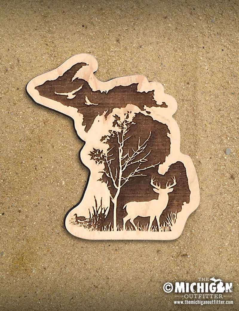 Wood Magnet - Deer In The Woods