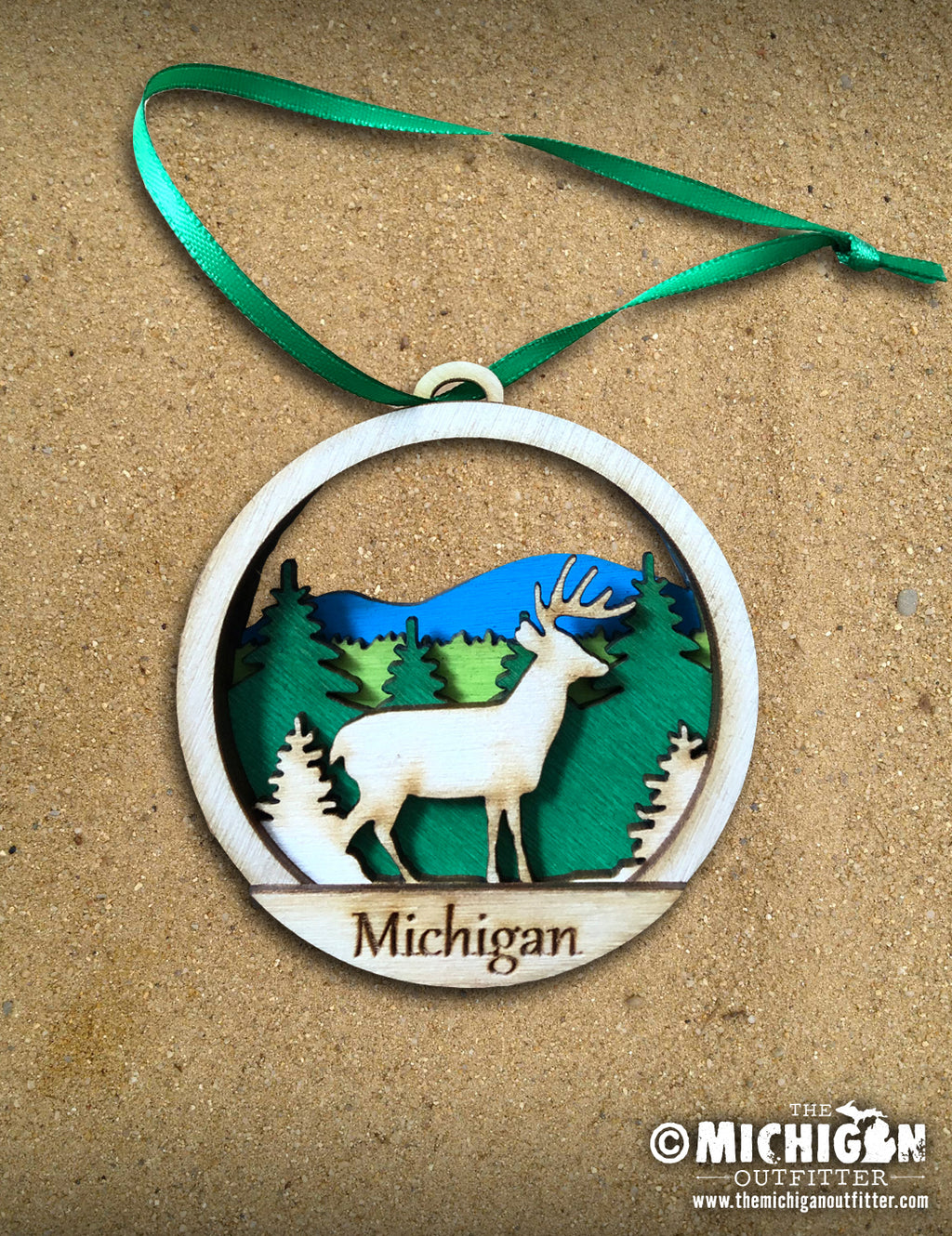 Wood Ornament - Deer