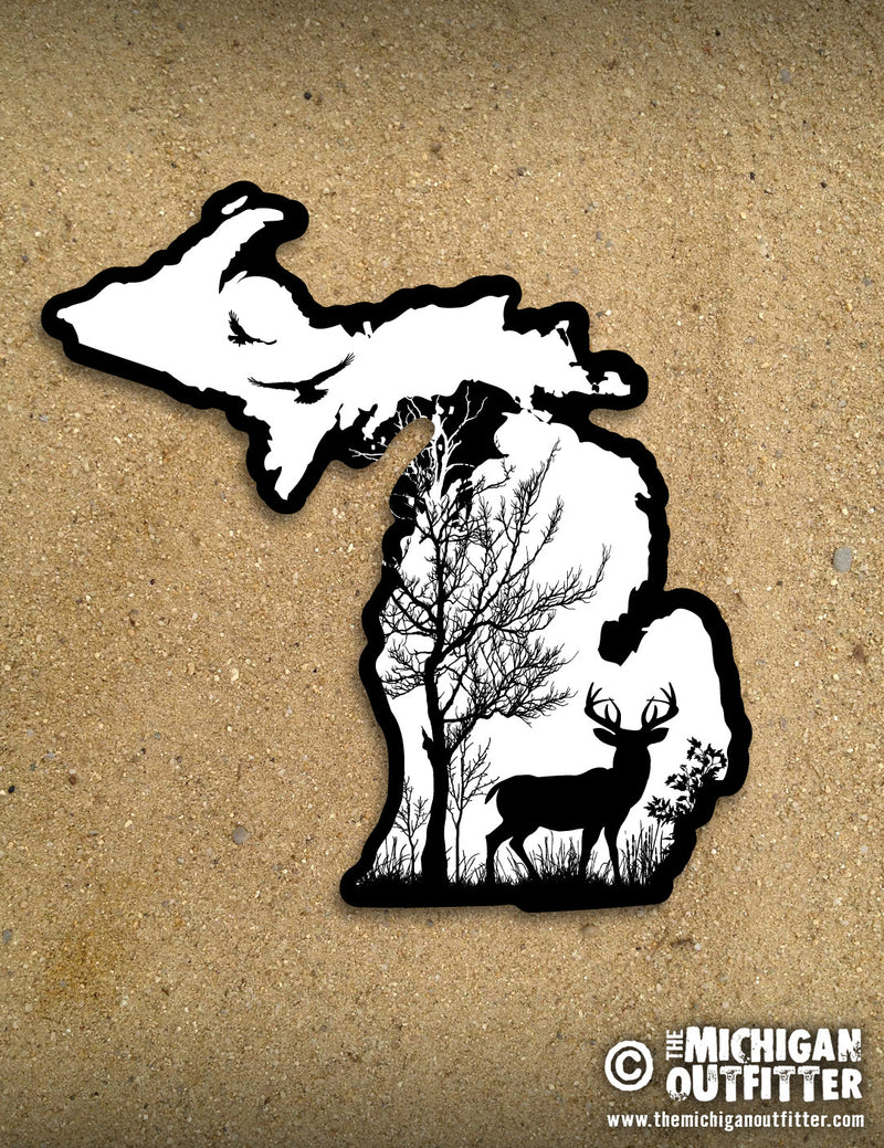 "4"" Michigan Sticker - Sunrise"